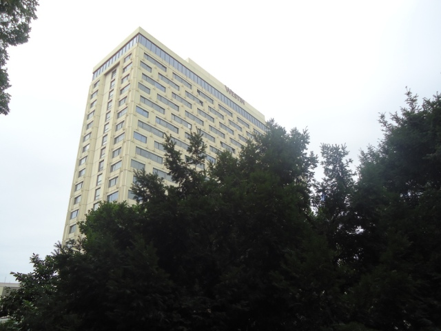 The Westin Hotel. Once the Intercontinental Hotel, which formed one point of Ivekovic's  Triangle   (1979).