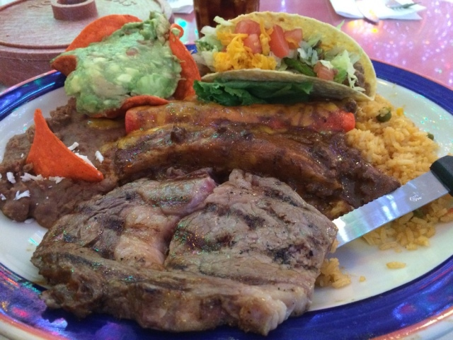 Enjoying the Tex-Mex in San Antonio, in between sessions at ASEEES