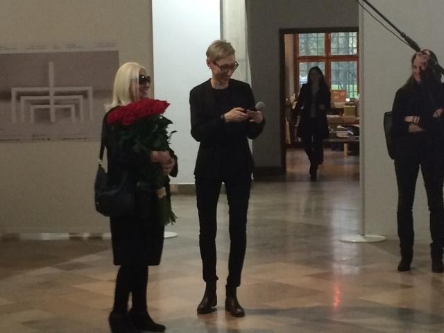 Natalia LL with Malgorzata ludwisiak, director of csw