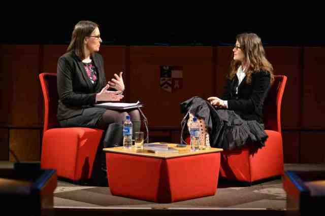 Amy Bryzgel interviews Tanja Ostojic on the Director's Cut, University of Aberdeen, April 1, 2015, King's College Conference Centre. Photo by Brian Stewart.