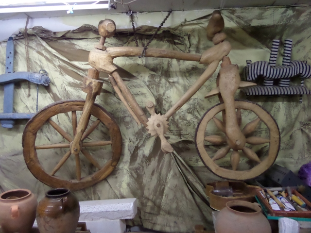 Ghenadie's wooden bicycle