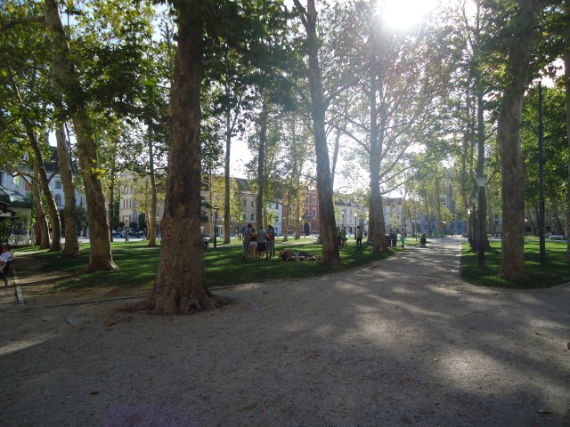 Zvezda Park in Ljubljana, the location of numerous OHO actions and performances.