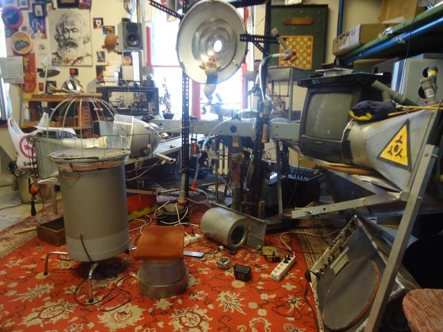 Inside Marko's studio