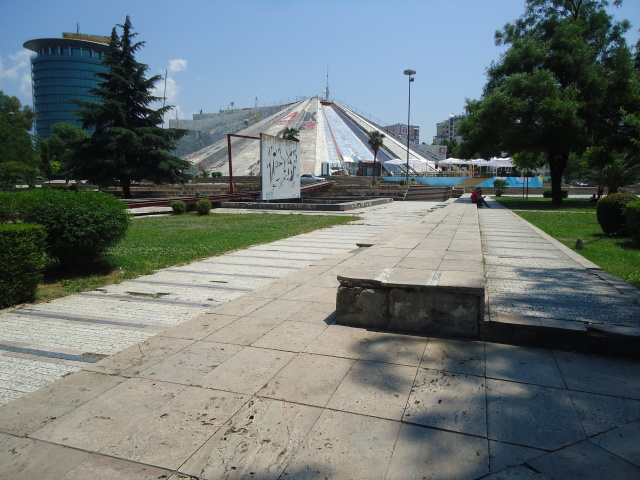 The Pyramid in Tirana in 2013